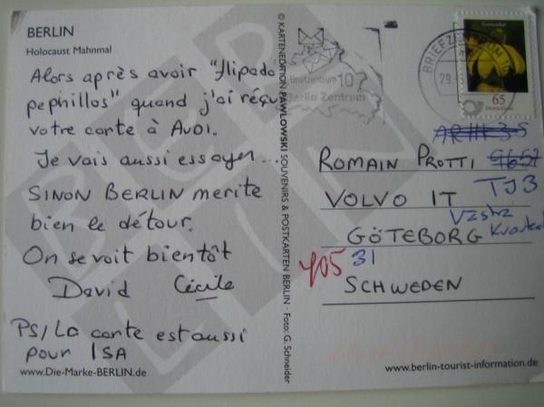Vykort Verso